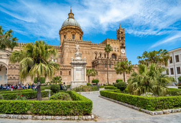 Photo sur Toile Palerme The Cathedral of Palermo in Sicily, Italy