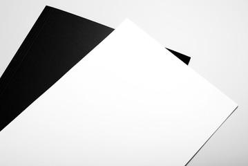 Blank stationery: letterheads and black folder