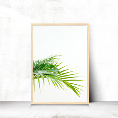nature landscape, summer frame and free space for text, summer background