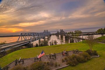 Bridge crossing the Mississippi River in Vicksburg, MS.