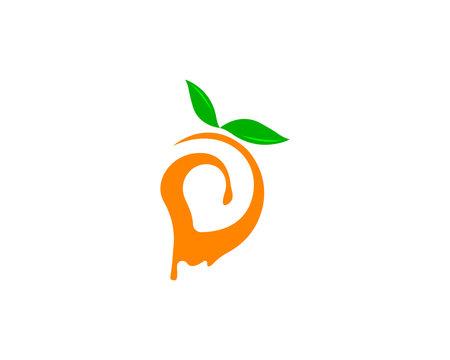 Mango in flat style. Mango vector logo. Mango icon