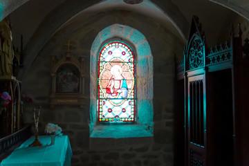 vitrail de chapelle