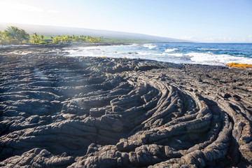 Fototapete - Beach on Big island