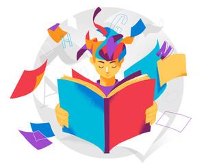 Fototapeta Reading book expand the mind obraz