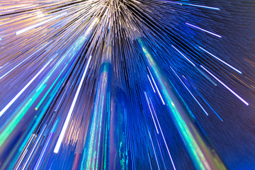Blue glowing glass lines as abstract background