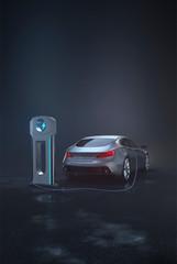 Generic e-car charging - portrait
