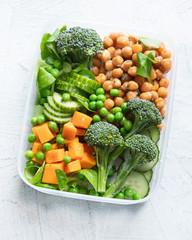 Healthy vegan lunch box