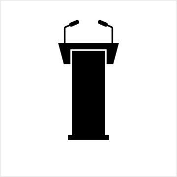 Podium Icon, Dias Icon, Tribune Icon