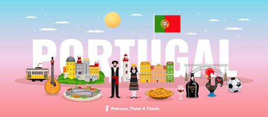 Portugal Tourism Concept - fototapety na wymiar