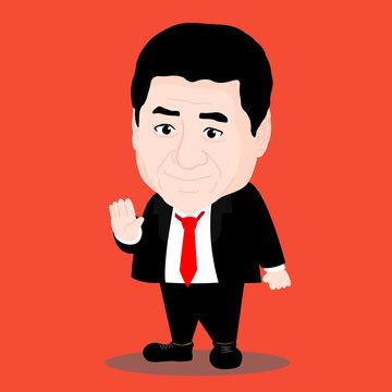 Cute Cartoon Character of Xi Jinping