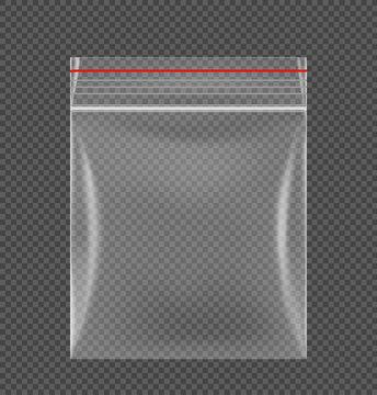Zipper locking bag mockup. Vector illustration. Ready for your design. EPS10.