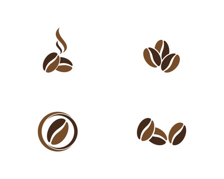 vector coffee beans template vector icon illustration