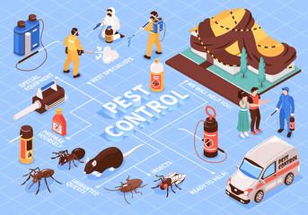 Pest Control Isometric Flowchart