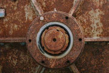 Abstract background with rusty mechanism