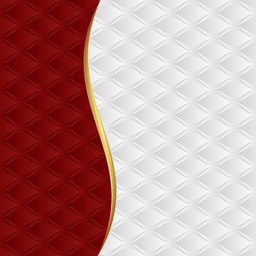 red and white background with decorative pattern