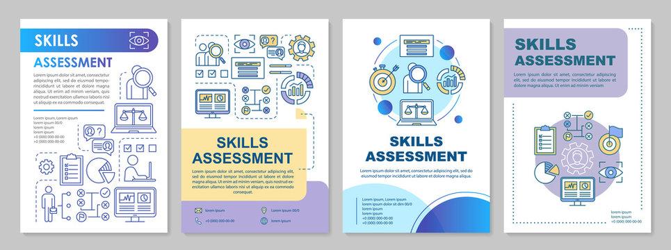 Skills assessment brochure template layout