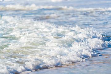 Sea surf on a sandy beach Canary Islands