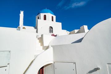 Panorama Oia Village architecture. Greece Santorini Island
