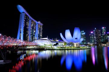 Fototapeta Singapore by night