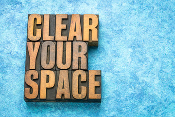 clear your space word abstract