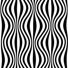 zebra seamless pattern.  wavy pattern in gray, black and white.  illustration.