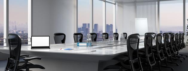Business Laptop Monitor Mock-Up auf Tisch