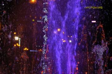 Poster de jardin Fontaine Musical colourful fountain