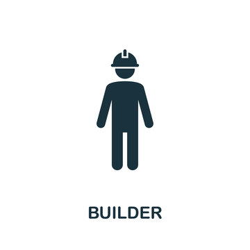 Builder vector icon symbol. Creative sign from construction tools icons collection. Filled flat Builder icon for computer and mobile