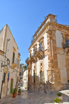 Historic buildings in the town of Scicli in Sicily