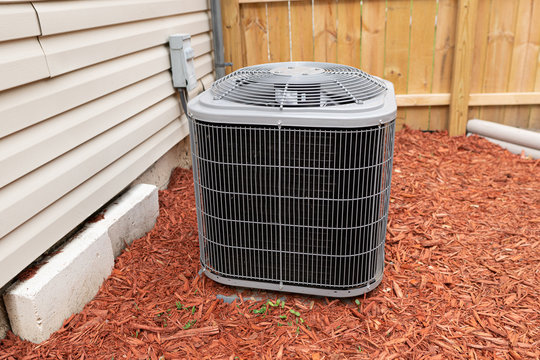 air conditioner has been properly installed and is cooling on a hot day