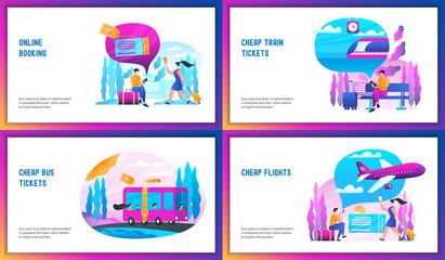 Online booking concept set