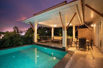home exterior design pavilion of pool villa