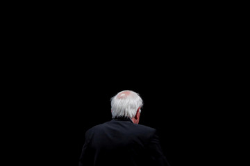 Democratic 2020 U.S. presidential candidate Senator Bernie Sanders leaves after delivering remarks during a campaign event at George Washington University in Washington