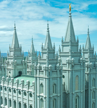 Salt Lake Temple in Salt Lake City, Utah, USA