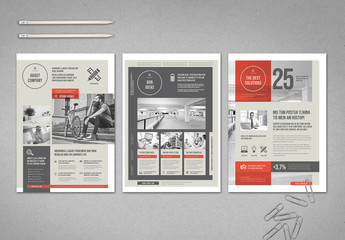 Gray and White Flyer with Red Accents