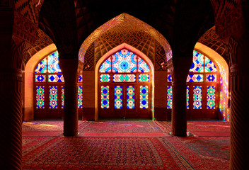 Rainbow mosque Shiraz Iran
