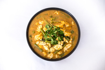 Chicken Curry Dish with green peas