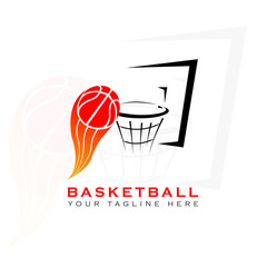 This logo has a picture of a basketball placed in a basket of basketball. This logo is well used as a basketball team  logo in the sports field. But it can also be used in various creative businesses