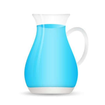 glass water jug icon in flat style. web icon, sign,  Design elements for business