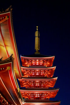 Sensoji Temple known as Asakusa Kannon located in Asakusa. It is one of Tokyo's most colorful and popular temples.