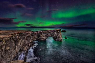 Dyrhólaey - Iceland - the rock. Fototapete