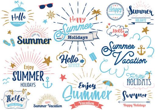夏のタイトル文字