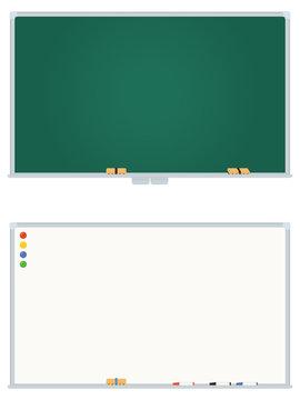 黒板とホワイトボード