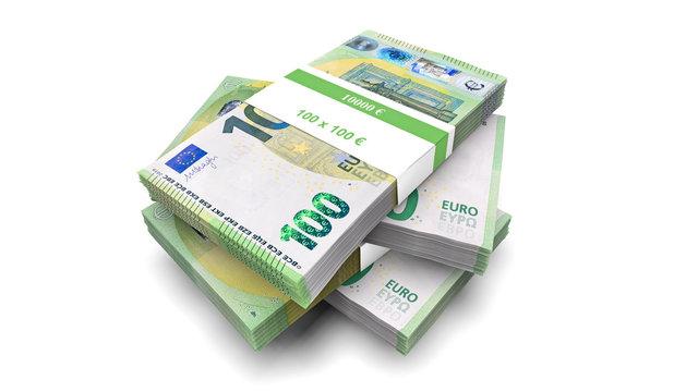 Geldbündel 100 Euro Geldscheine 2019 Bündel Geldstapel Stapel 100 €