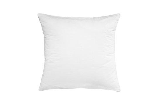 White pillow isolated, pillow on a white background, pillow staked against white background