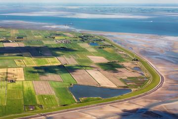 Insel Pellworm, Luftbild vom Schleswig-Holsteinischen Nationalpark Wattenmeer