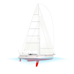 Sailboat Yacht C Profile