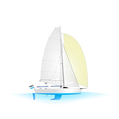 Sailboat Open Yacht D Profile