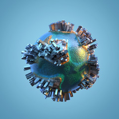 city on a small planet