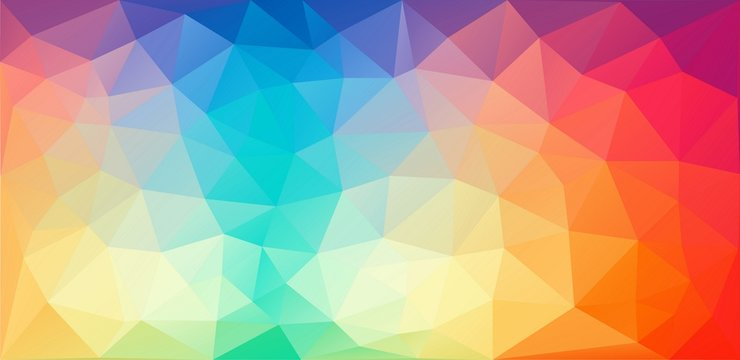 Horizontal color triangle background - Vector Eps
